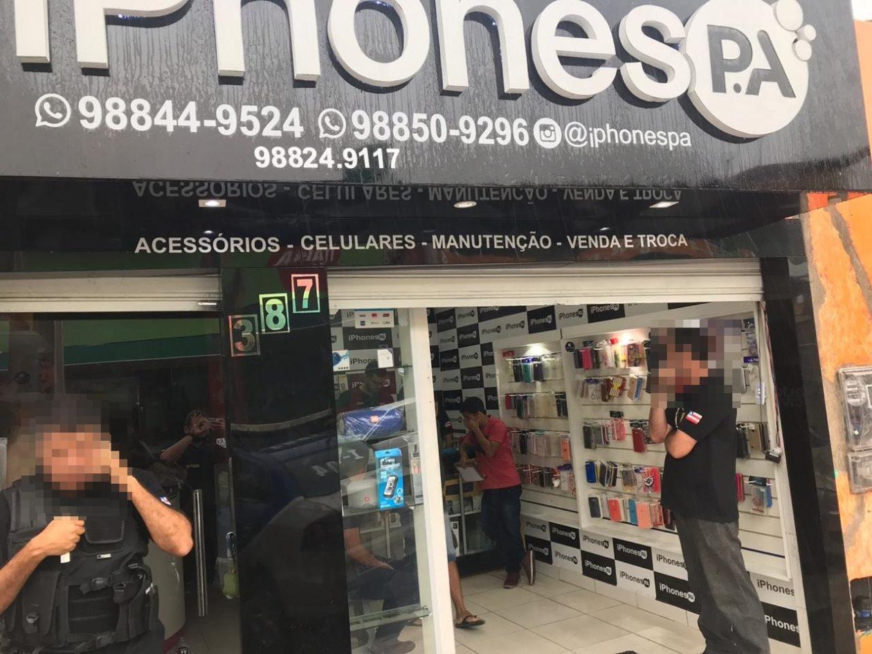 Loja que revendia iPhones roubados em Paulo Afonso
