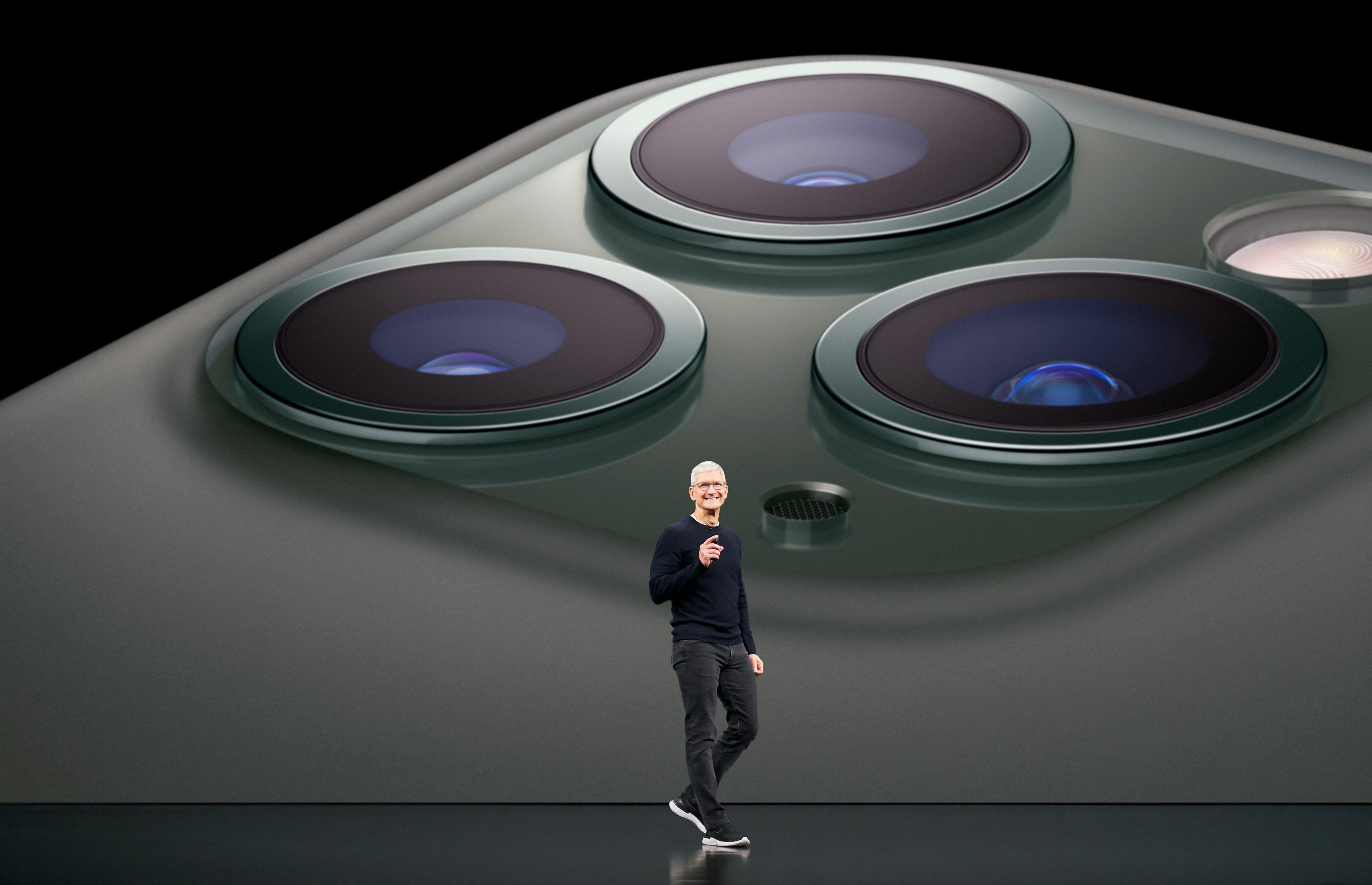 Tim Cook na keynote do iPhone 11