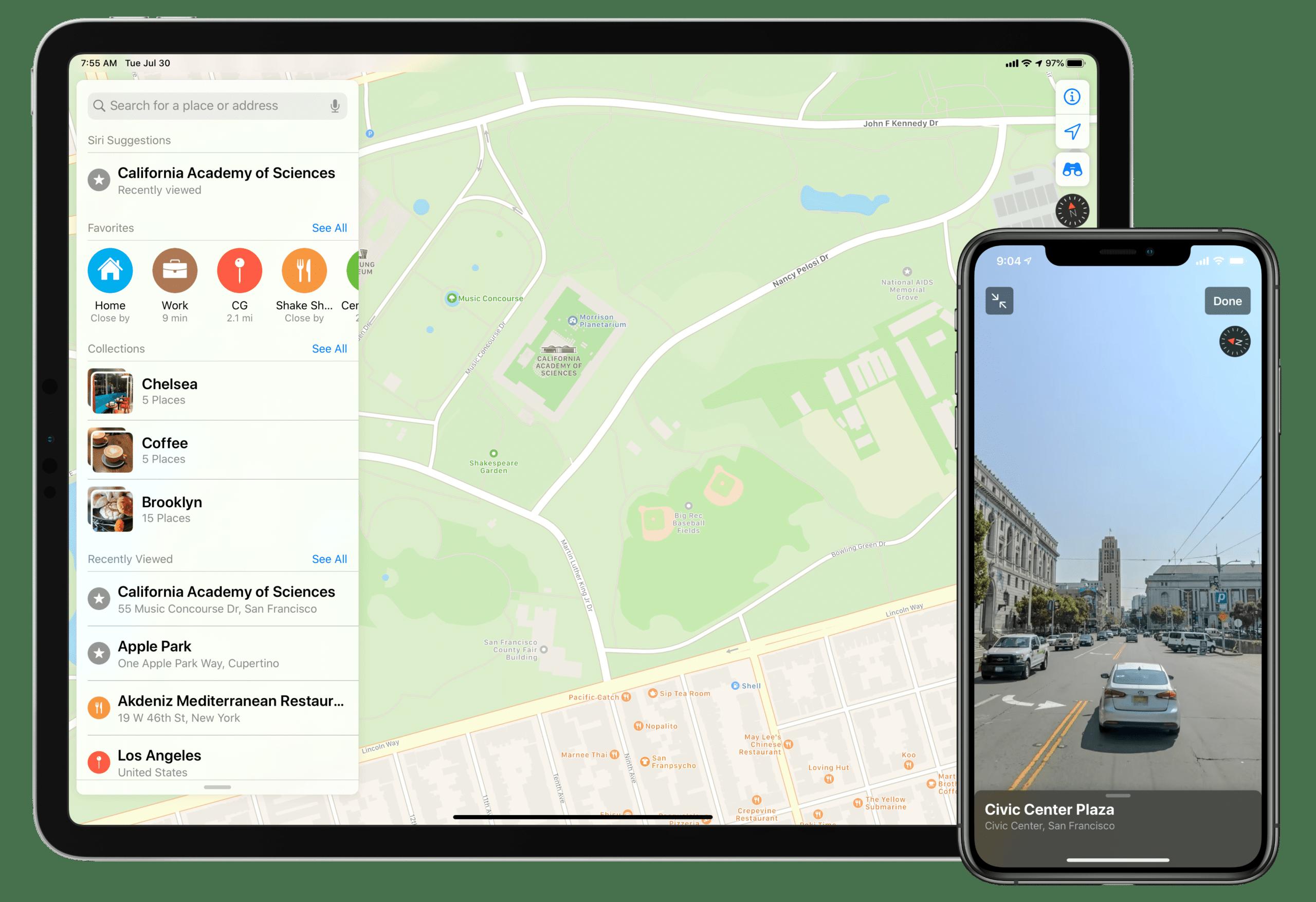 Mapas da Apple no iOS