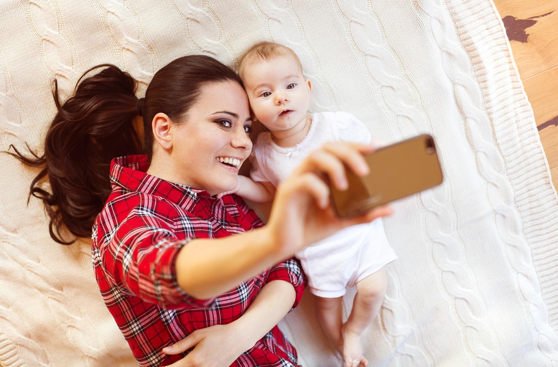 Selfie com bebê