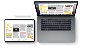 MacBook e iPad usando o Sidecar