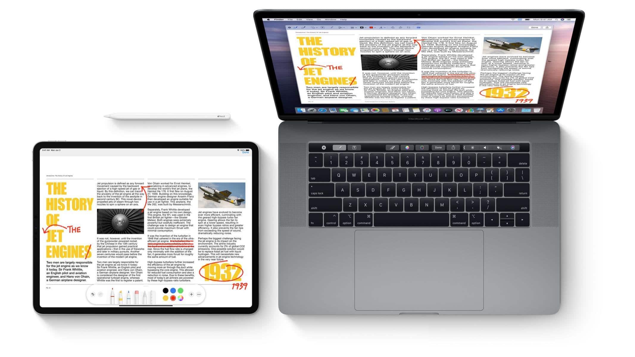 MacBook e iPad usando o Sidecar