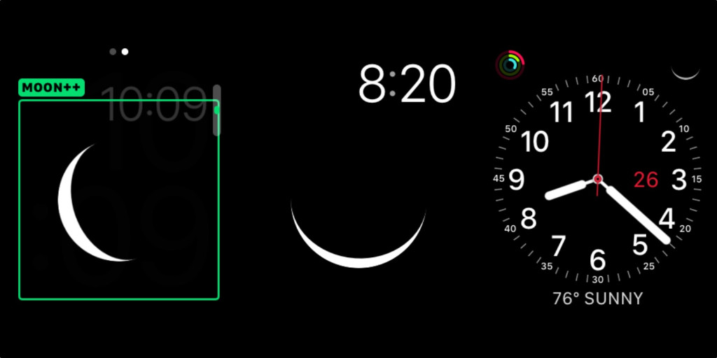 App para Apple Watch Moon++