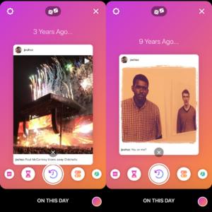 """Aba """"Criar"""" dos Stories do Instagram"""