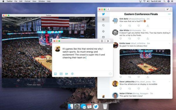 Novo Twitter para Mac