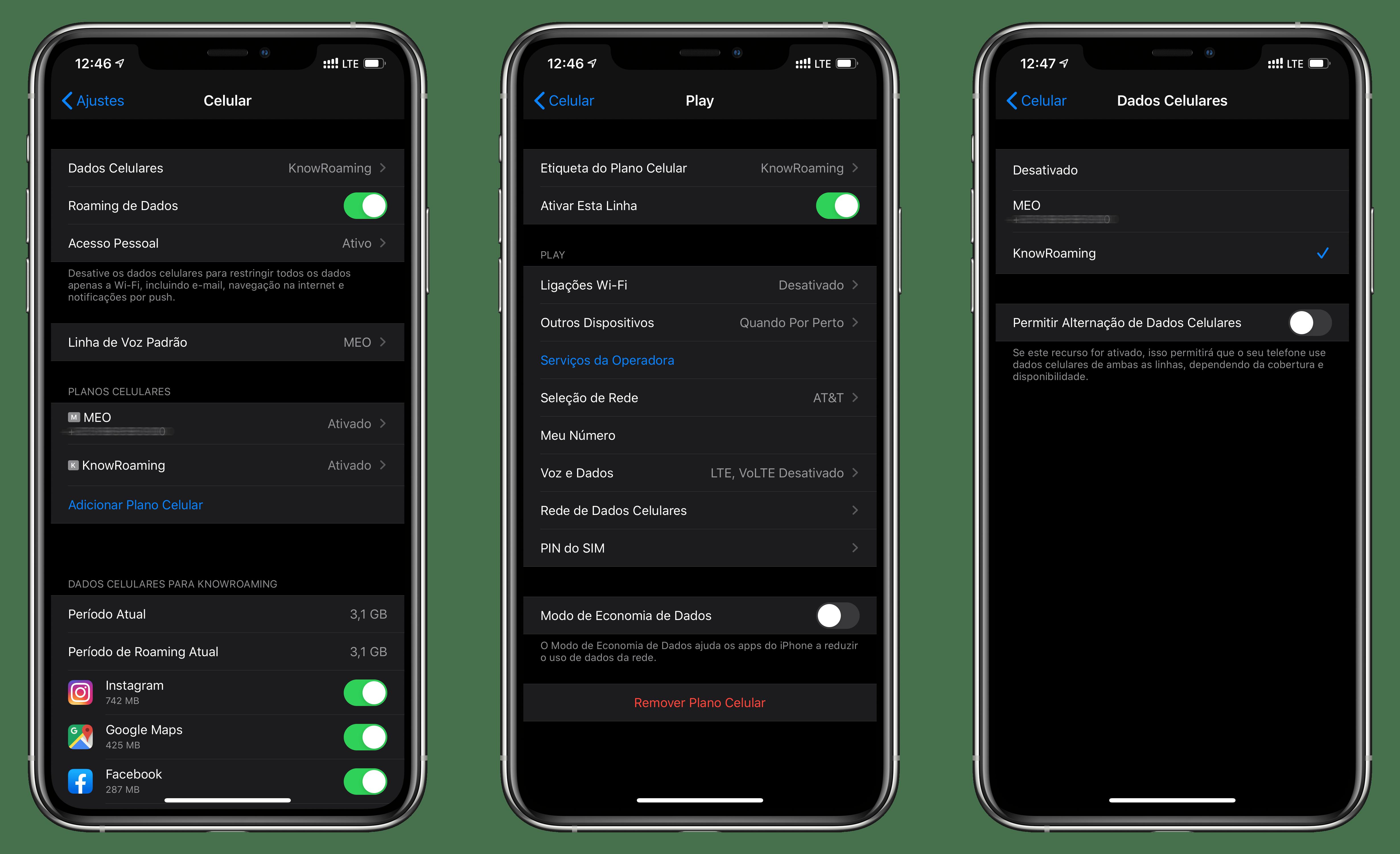 Gerenciando o eSIM no iPhone