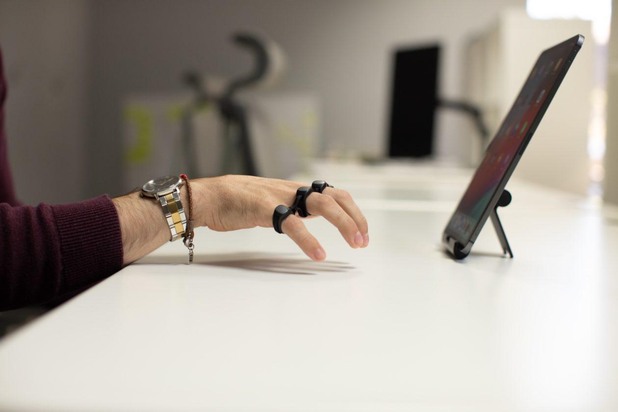 Digitando com o Tap no iPad