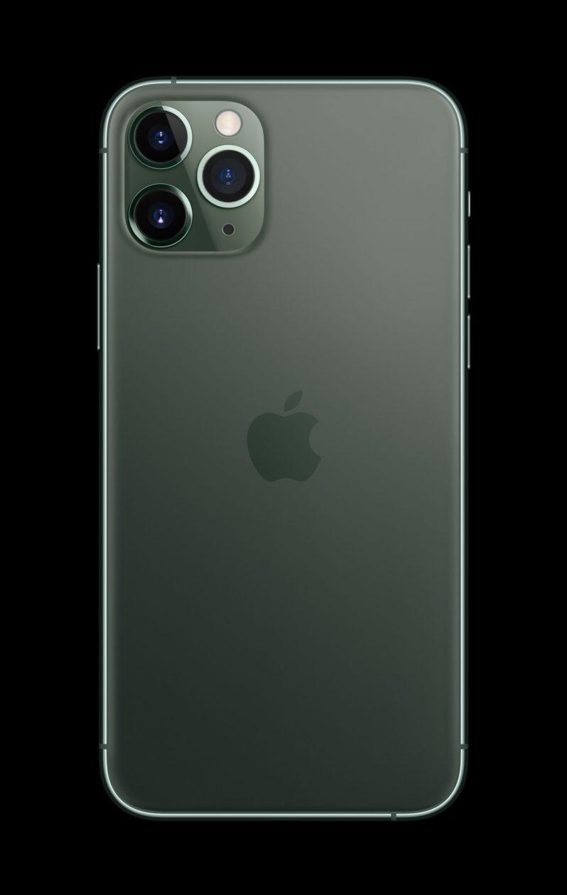 iPhone 11 Pro Max verde meia-noite de trás