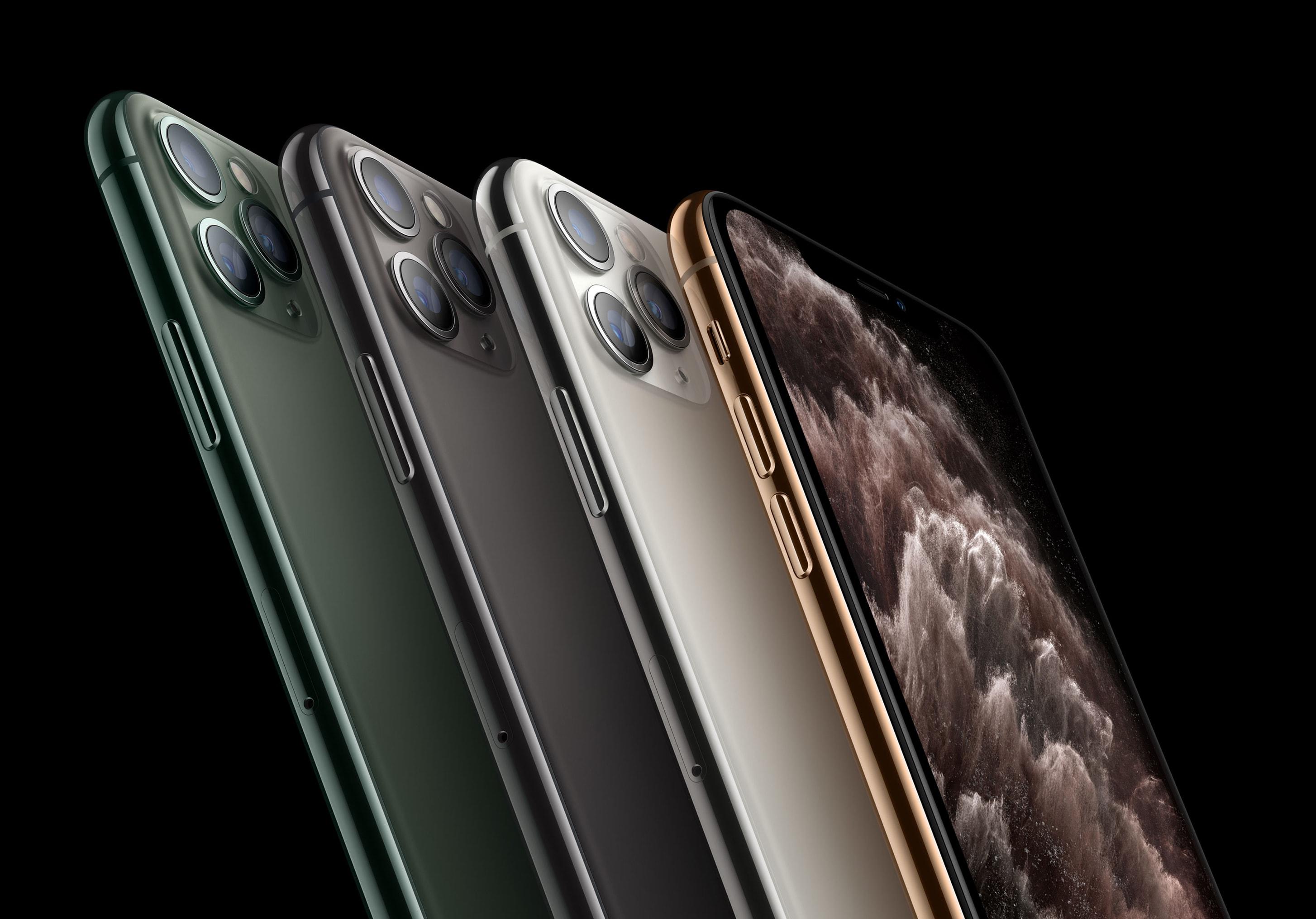 As quatro cores do iPhone 11 Pro