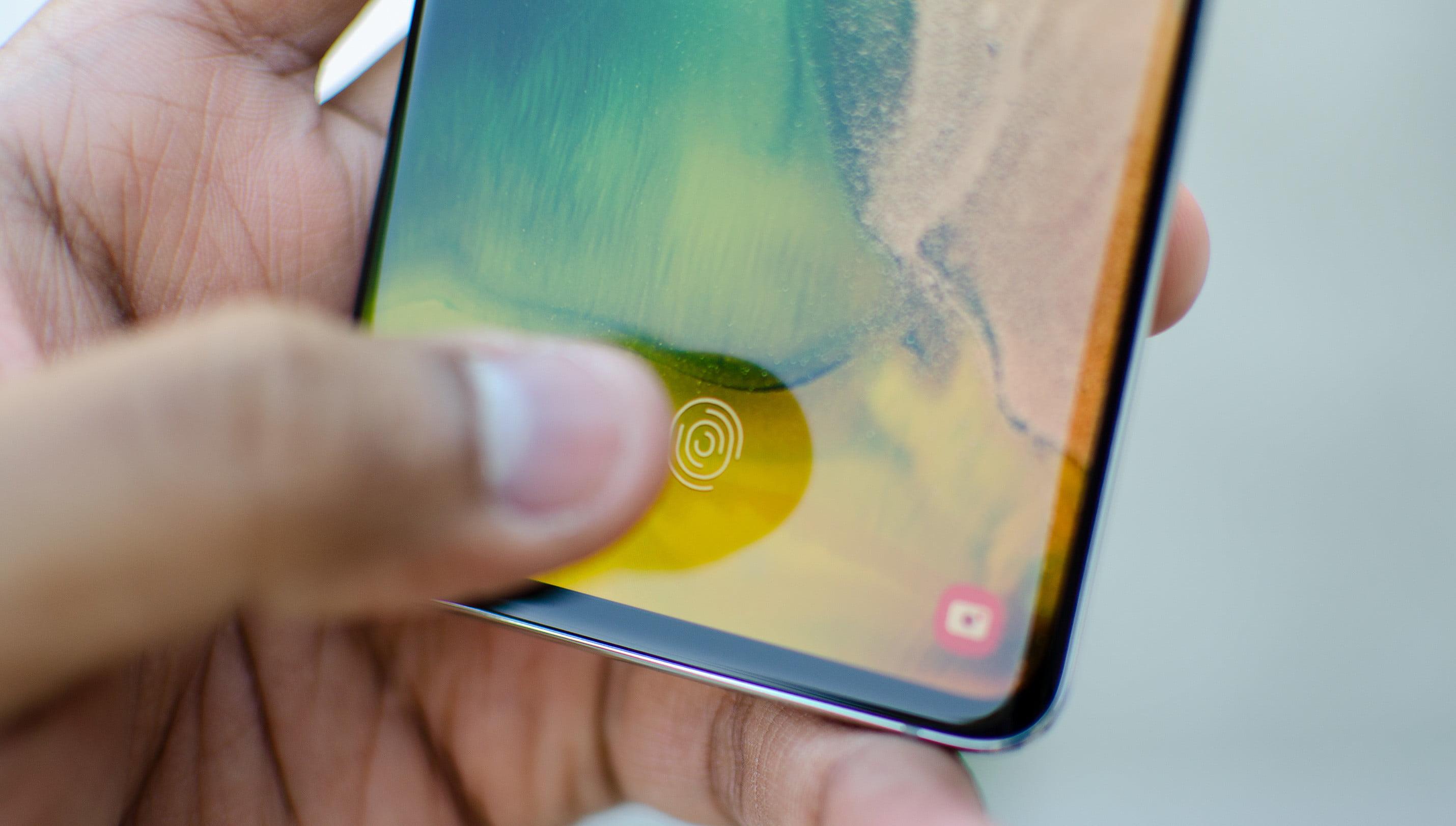 Sensor de impressão digital do Galaxy S10