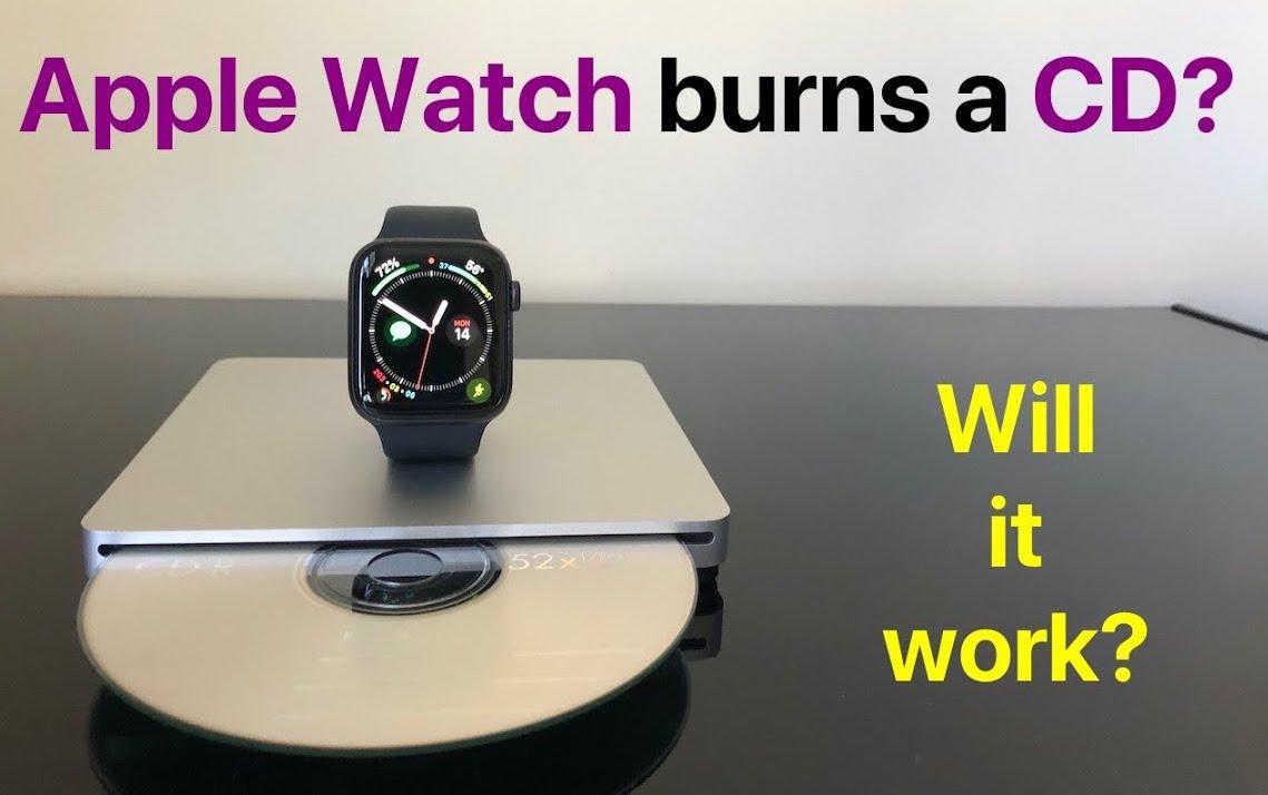 Gravando um CD no Apple Watch