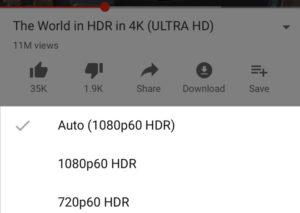 Qualidade HDR no YouTube