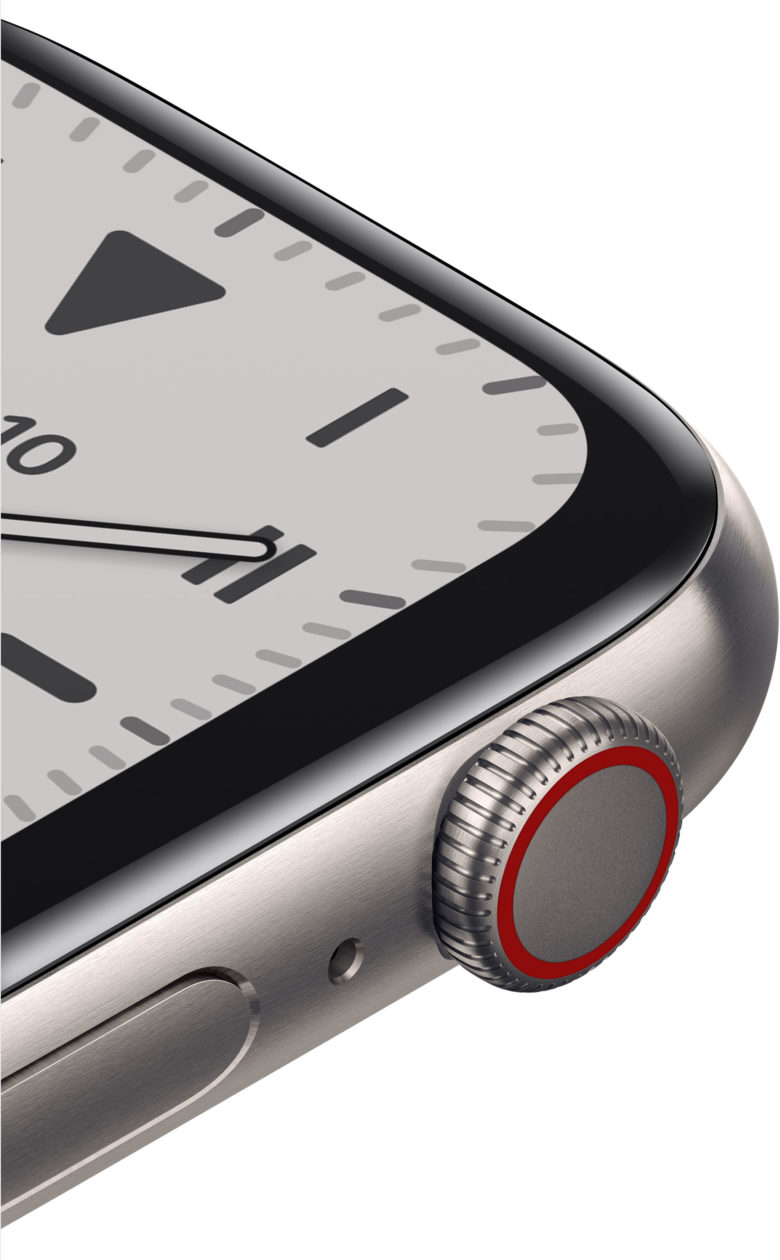 Digital Crown do Apple Watch Edition de titânio