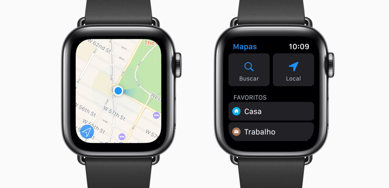 Bússola do Apple Watch Series 5 agora mostra a direção no app Mapas do watchOS 6