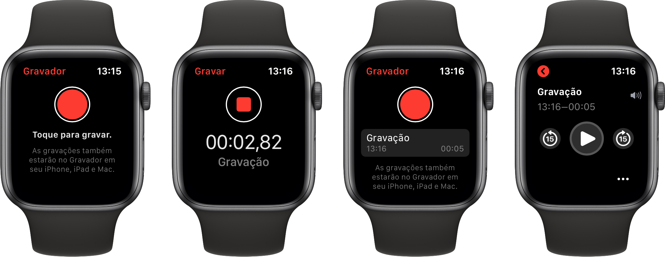 App Gravador do watchOS 6
