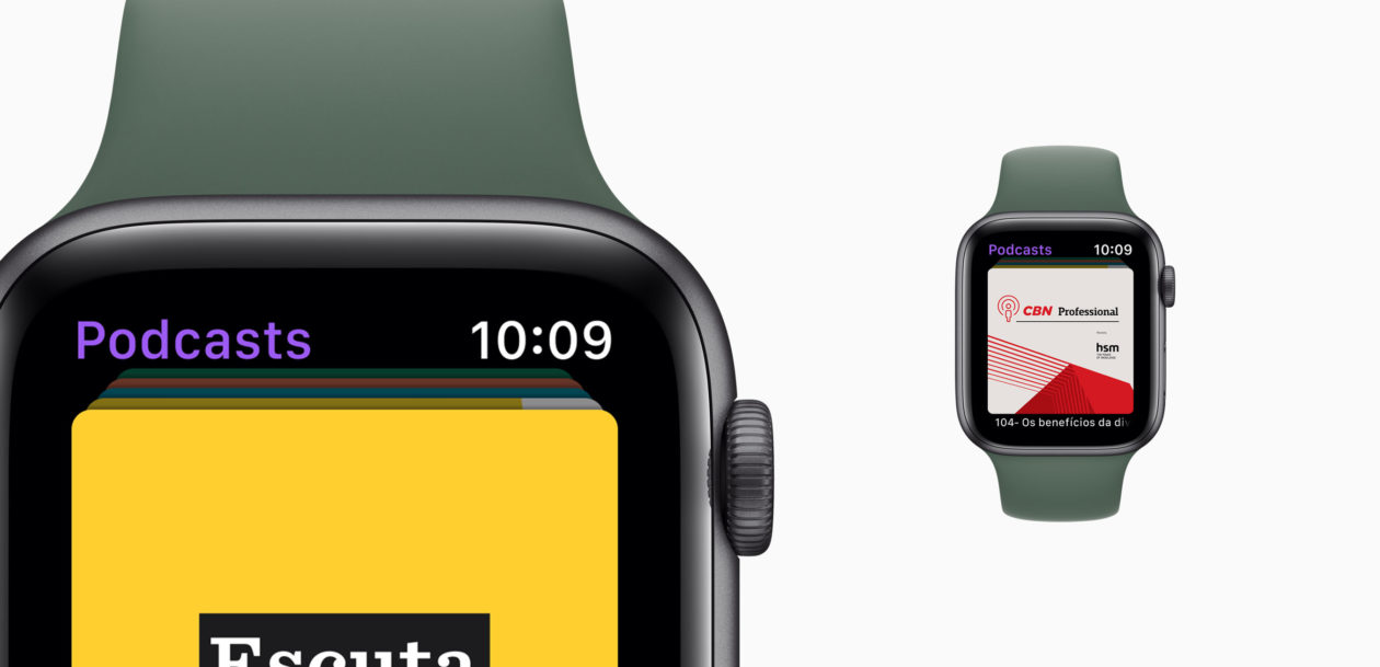 Podcasts no Apple Watch Series 5