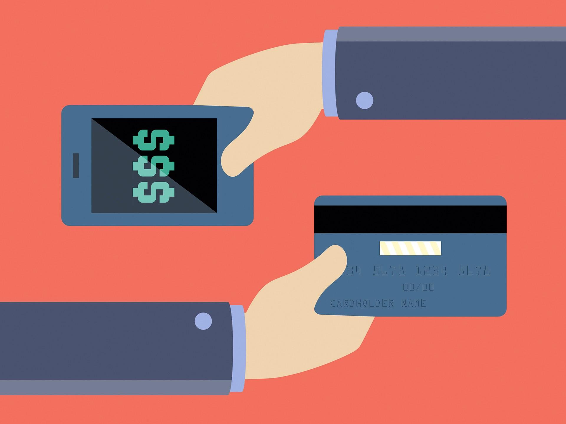 Ilustração de pagamento móvel