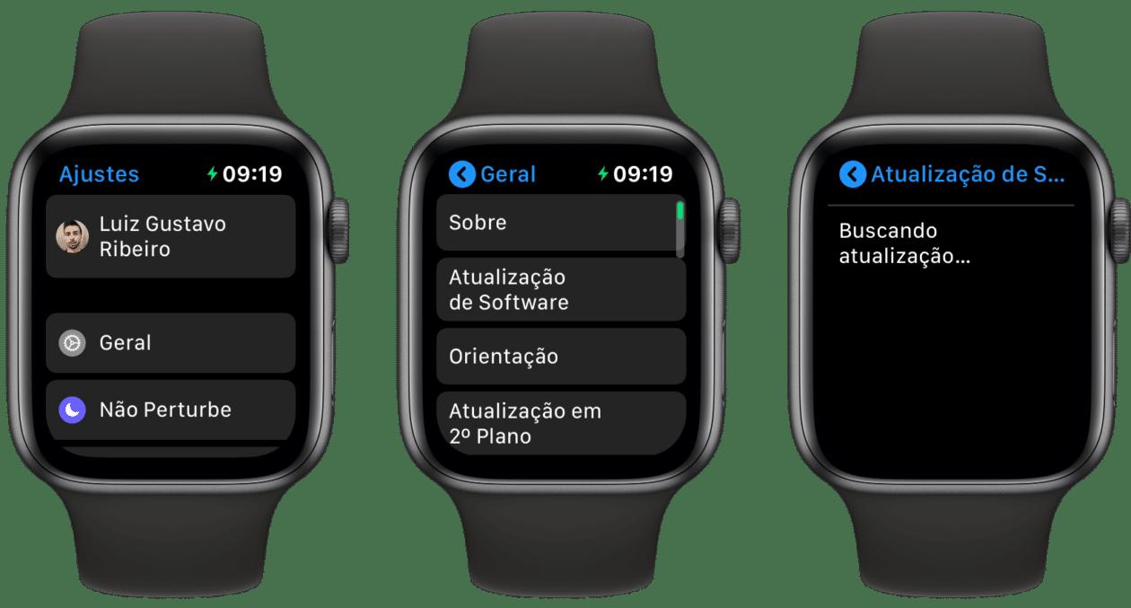 Atualização de Software do Apple Watch