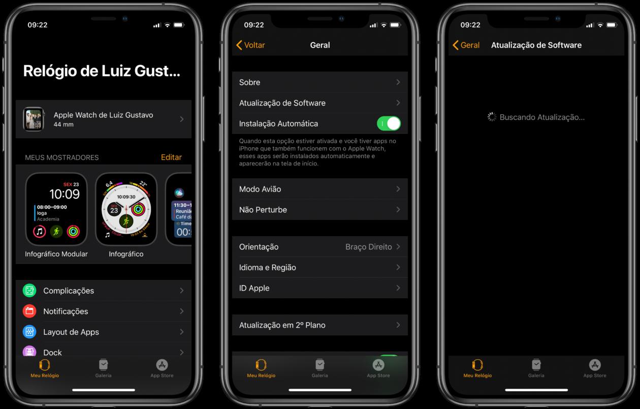 Atualizar o Apple Watch pelo iPhone