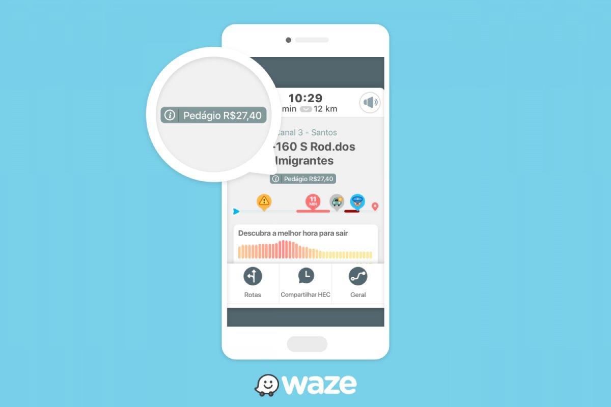 Alerta de pedágios no Waze