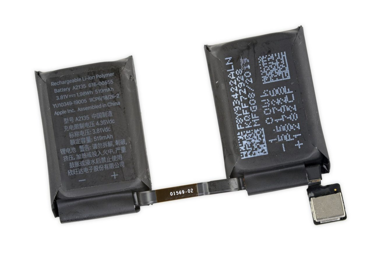 Bateria do estojo de recarga dos AirPods Pro
