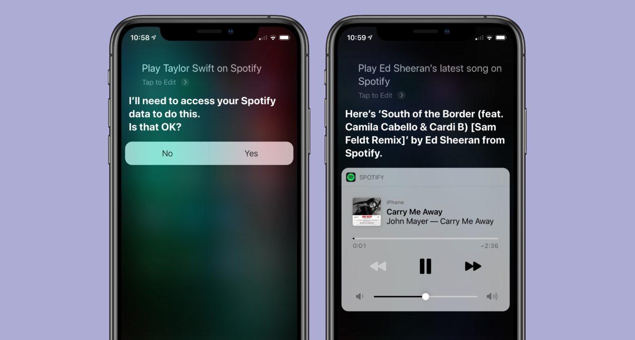 Integração do Spotify com a Siri