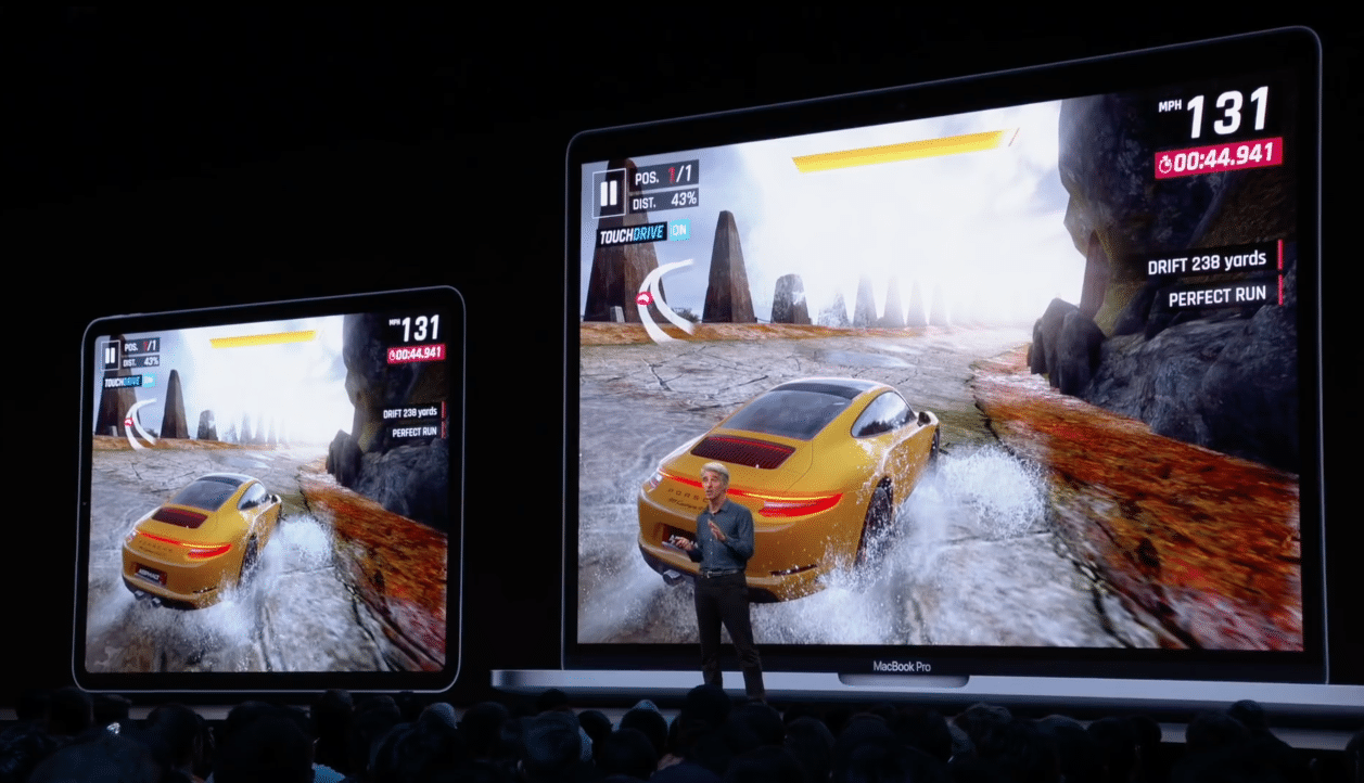 Apple falando sobre Asphalt 9: Legends no Projeto Catalyst