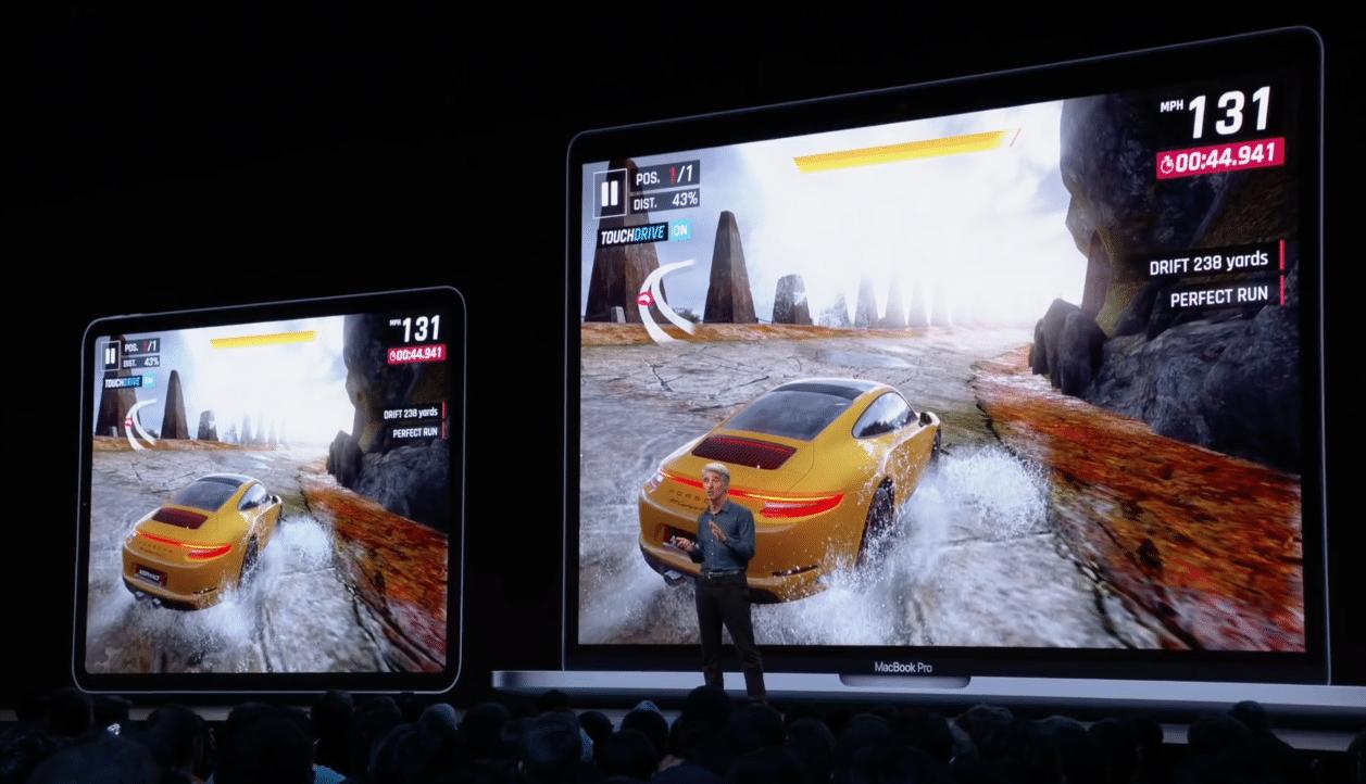 Apple falando sobre Asphalt 9: Legends no Projeto Catalyst