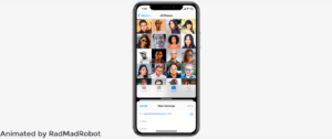 Split View no iPhone em conceito do iOS 14