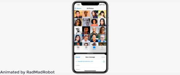 Split View no iPhone em conceito do iOS 14