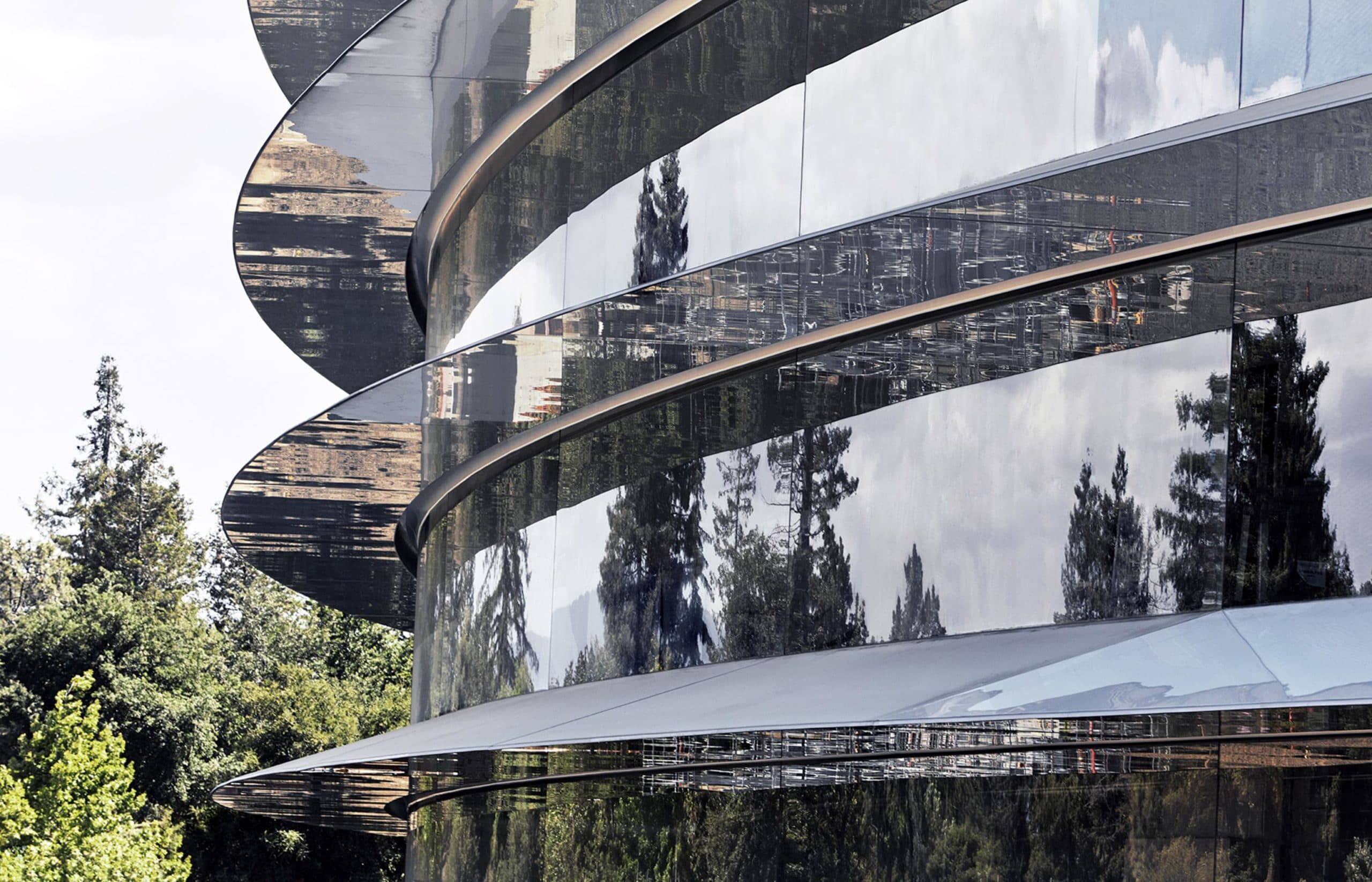 Exterior do Apple Park