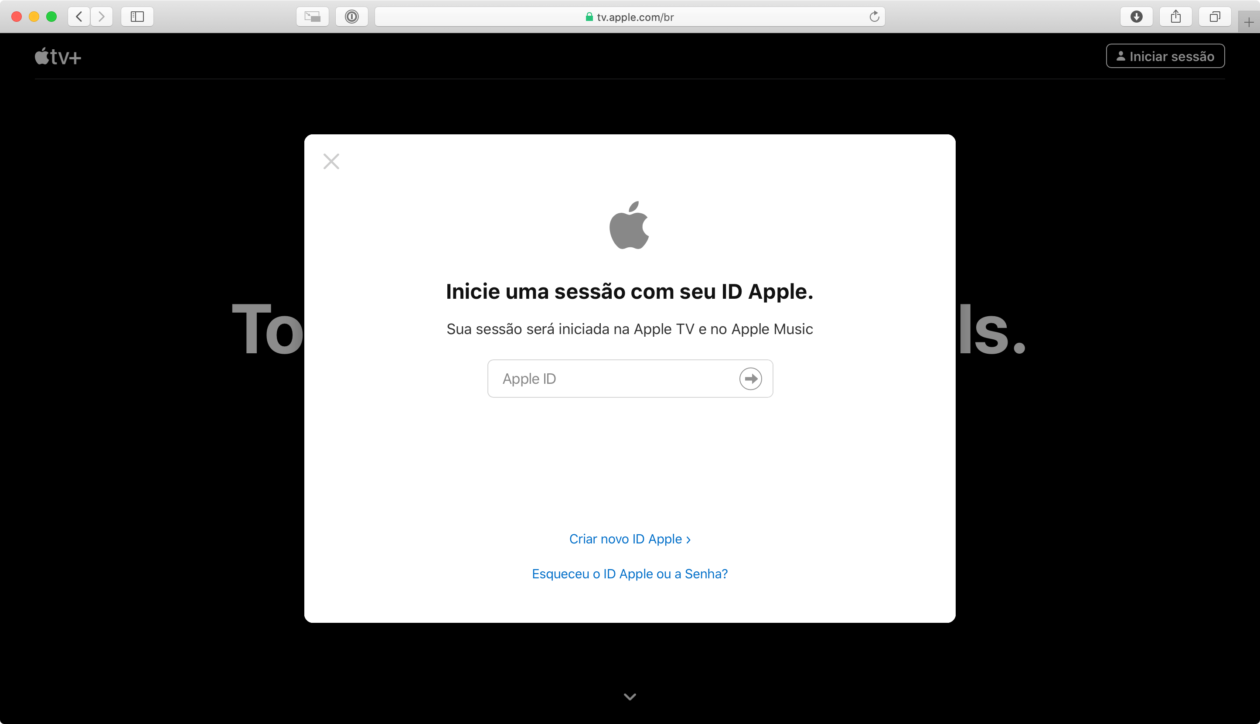 Apple TV+ na web