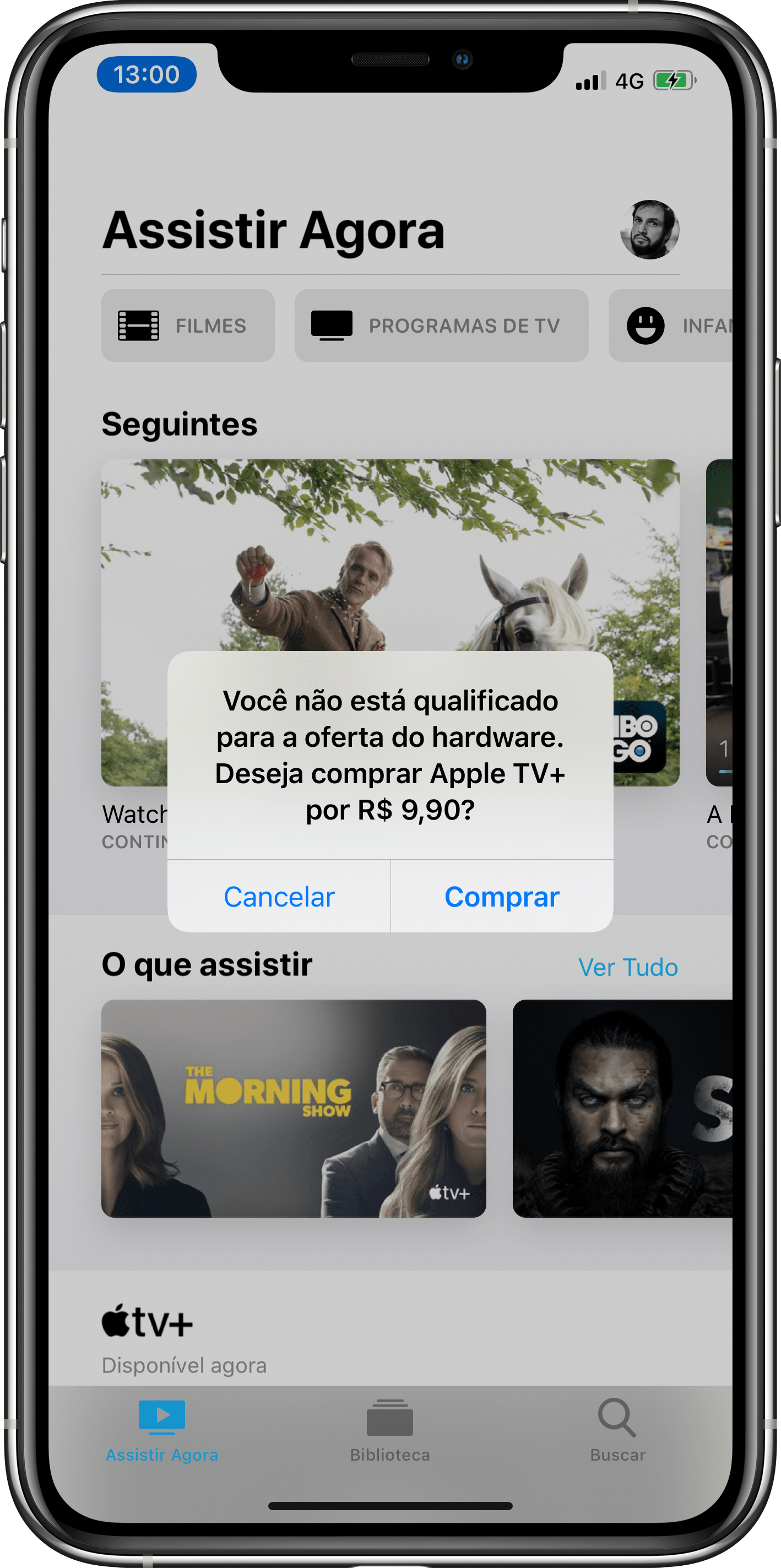 Problemas para assinar o Apple TV+