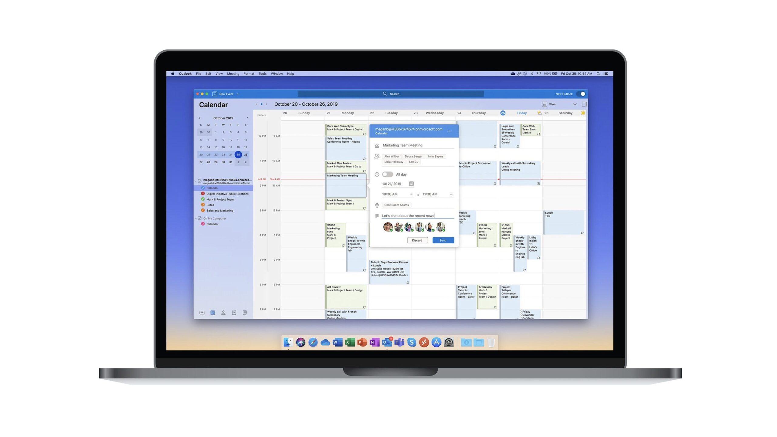 Beta do Outlook para Mac