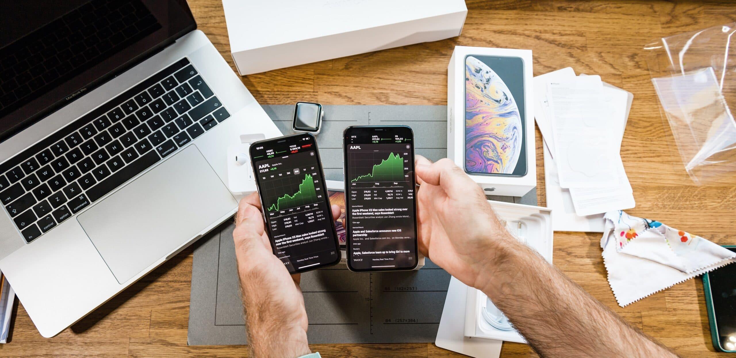 Ações da Apple em iPhones