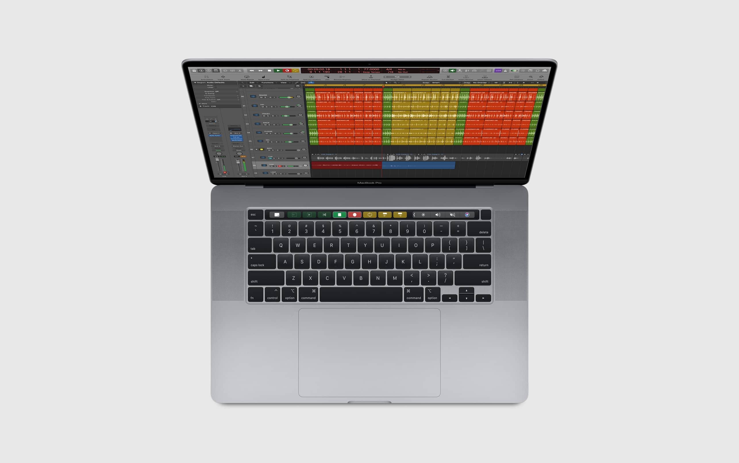 Teclado do MacBook Pro de 16 polegadas
