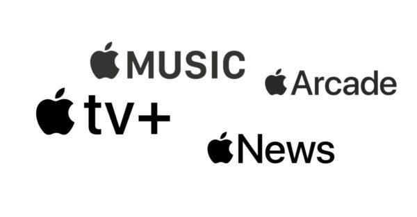 Logo de serviços da Apple