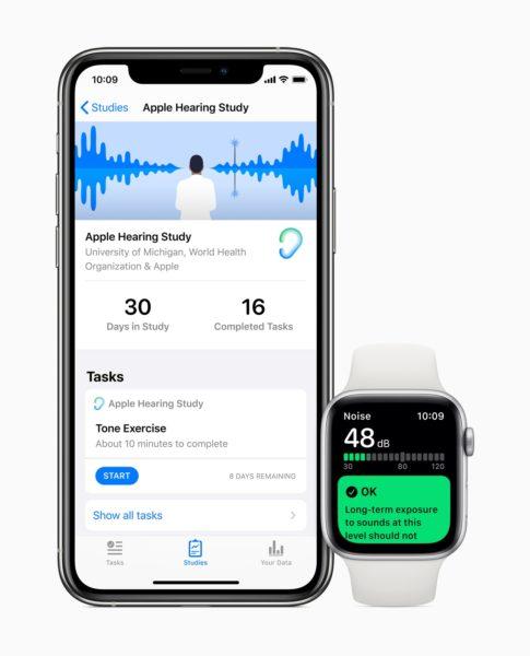 Novos estudos de saúde da Apple