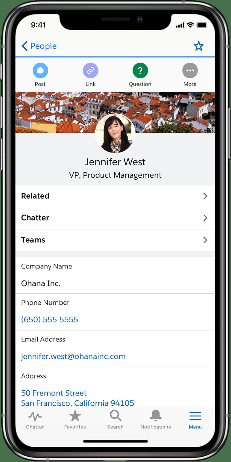 Novo app Salesforce para iOS