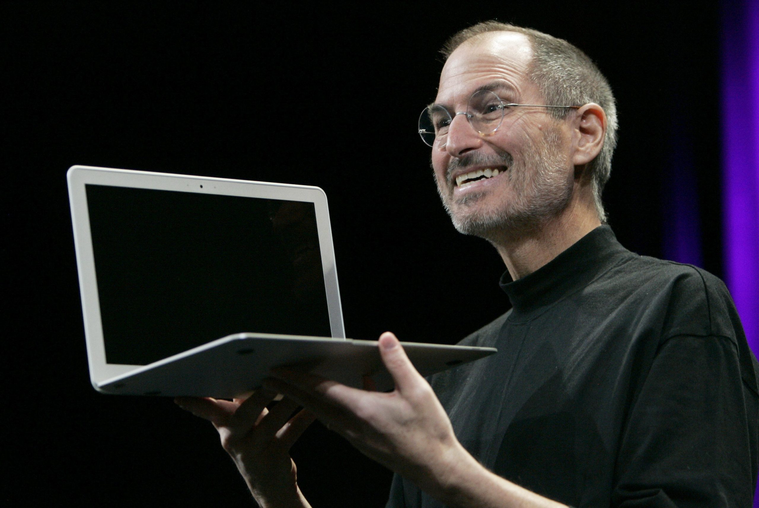 Steve Jobs com MacBook Air