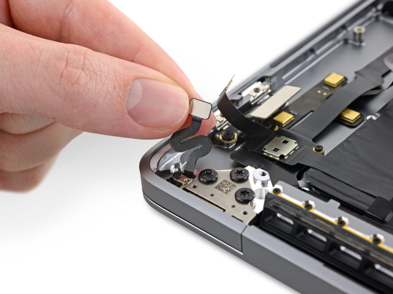 """Sensor de ângulo da tampa do MacBook Pro de 16"""""""