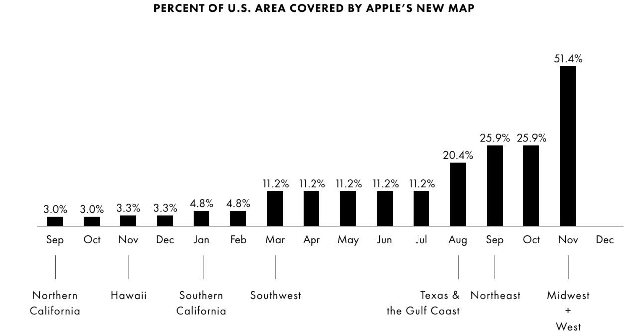 Expansão dos Mapas da Apple