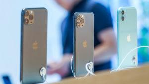 iPhones em loja