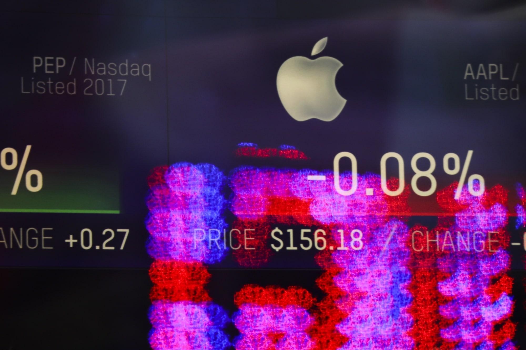 Números e ações da Apple