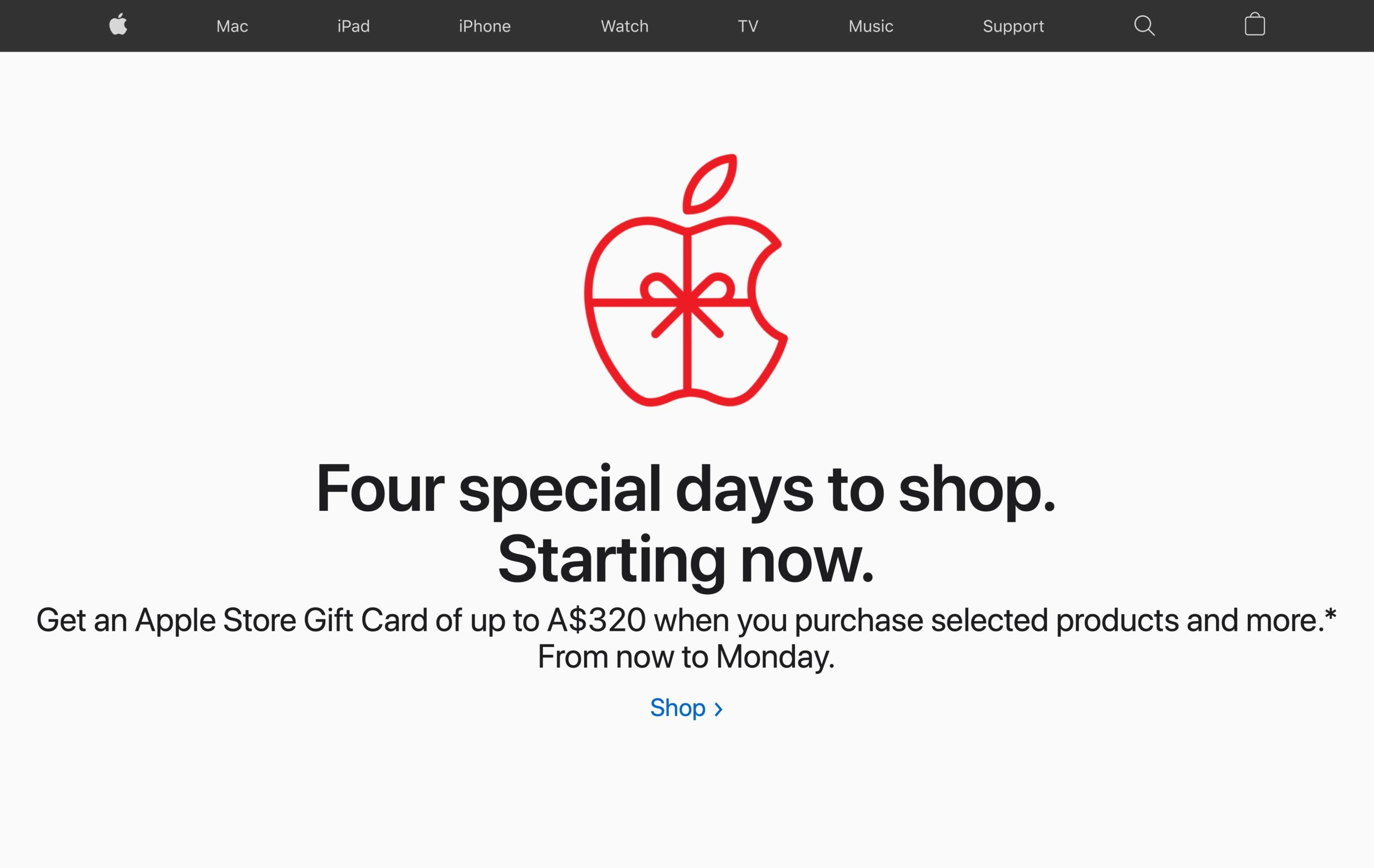 Black Friday da Apple na Austrália