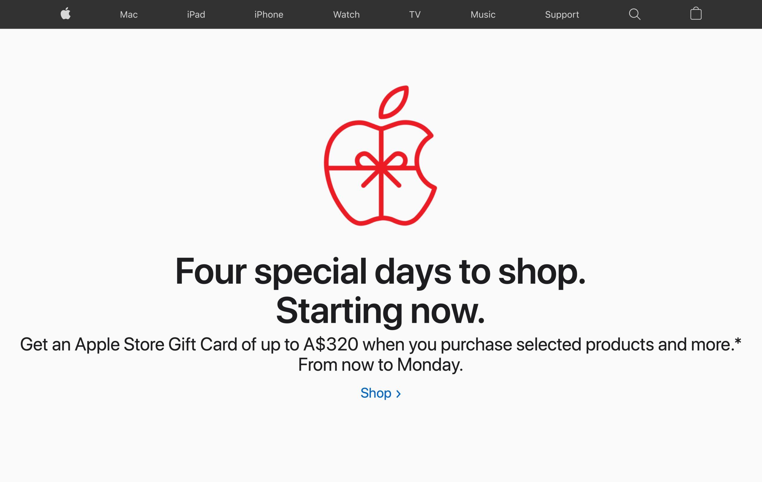 Black Friday da Apple na Austrália