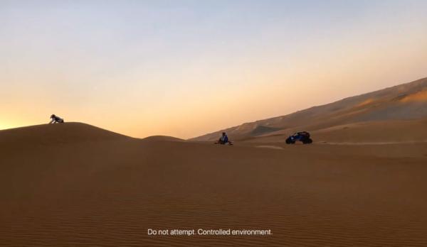 """Vídeo da série """"Filmado com iPhone"""" no deserto da Arábia Saudita"""