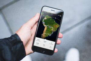 Mapa em um iPhone