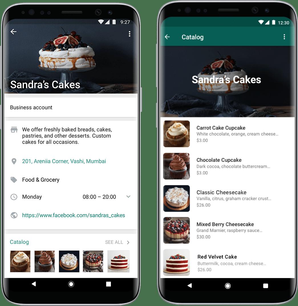 Catálogos de produtos no WhatsApp Business