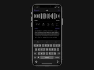 Aplicativo de transcrição de fala Dictation